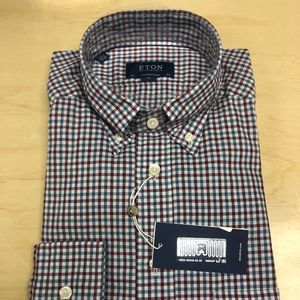 Eton Cont. Fit Lightweight Flannel Button Down